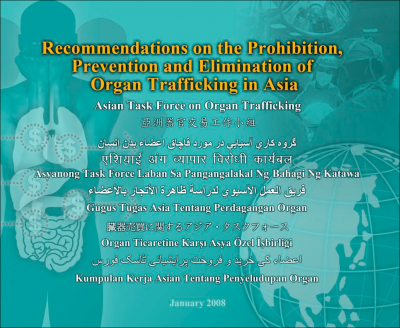Recommendations on the Prohibition, Prevention and Elimination of Organ Trafficking in Asia